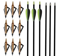 "I-sport 32"" Archery Arrow Nocks Fletched Arrows Fiberglass f"