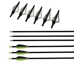 "I-Sport 32"" Hunting Practice Fiberglass Arrow Archery with 3"