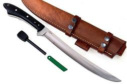 "CFK Cutlery Company IPAK USA Custom Handmade D2 17"" Curved T"