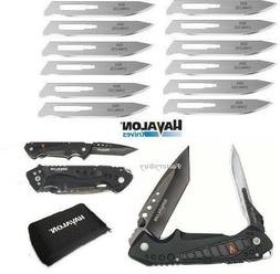"""HAVALON KNIVES #60A Stainless Steel 12 Replacement Blades 2 3//4/"""" SSC60ADZ NEW!!"""