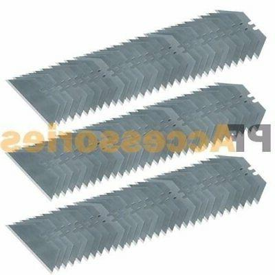 100 Pcs Utility Knife Razor Blade Refill Replacement Double