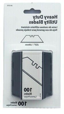 100 Blades Box Cutter Razor Safety FAST YOU..