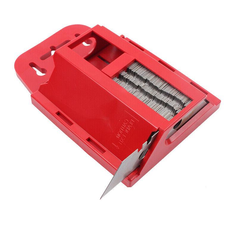 100PCS UTILITY KNIFE BLADES Replacement Standard Razor Box Cutter