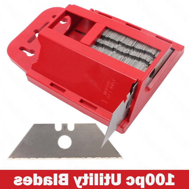 100pcs utility knife blades replacement refills standard