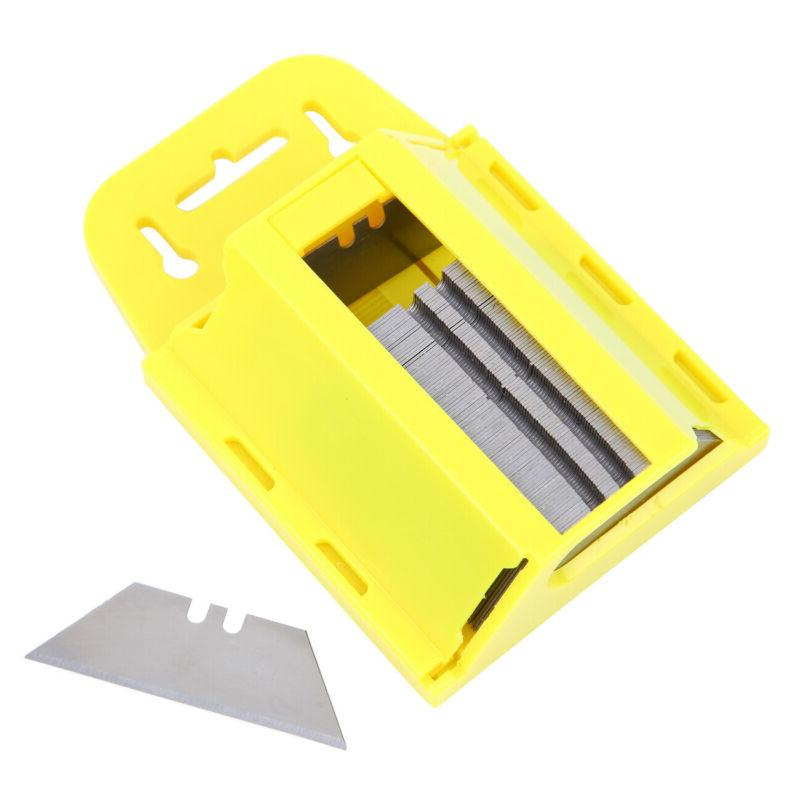 100pc Utility Blades w/Dispenser Box Cutter Exacto Replaceme