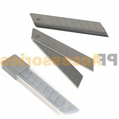 """10x Snap Off 18mm 4"""" Cutter Utility Knife Replacement Blades"""