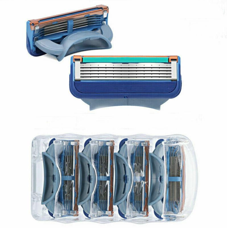 16 Razor Blades 5-layer Blue