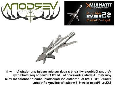 New 2017 Truglo Titanium X Crossbow 100 Grain 4 Blade 3 Pack