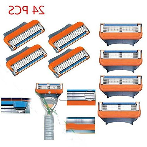 24 Pcs Replacement Blades Compatible Razor Blades For Gillet