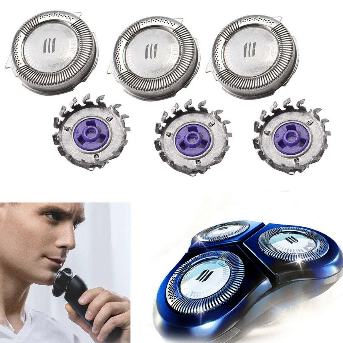 3x replacement shaver blades heads for philips