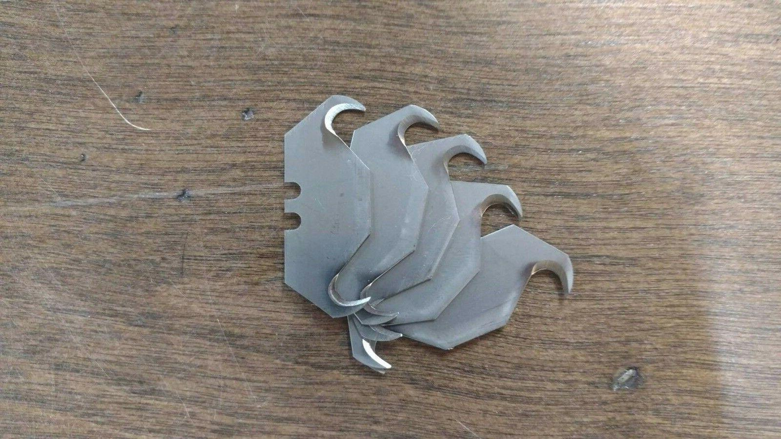 5 replacement blades for zipper knife trapping