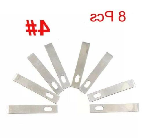 8pcs Replacement Blades No.4 X-Acto Wood Carving Hand Cuttin