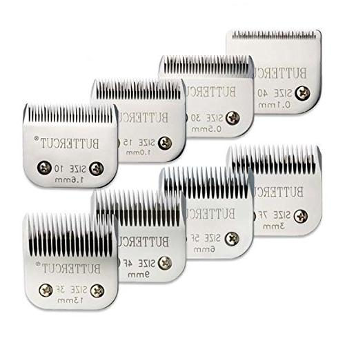 Geib Buttercut Grooming Blades Stainless Steel 8 Pack Profes