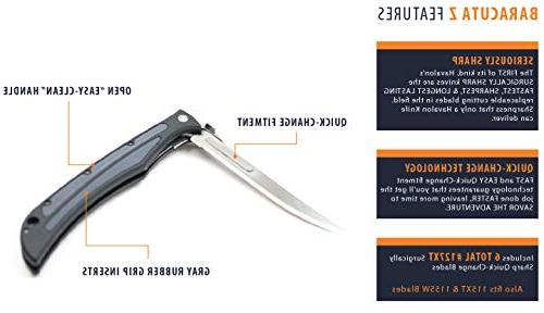 Havalon Knives Z - Bear Edition BBQ Folding Knife with Replacement Blades - Knife your Accessories/Kitchen Trim Fat