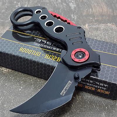 TAC FORCE Assisted Pocket Knives CLAW BLACK Blade
