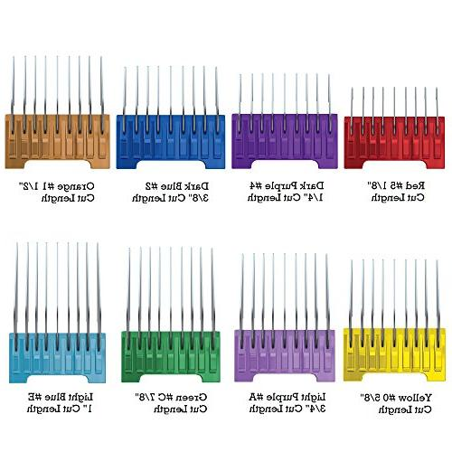 Wahl Professional Steel Attachment Guide Combs for Wahl's Bravura, Chromado, Figura, and Pet Clippers