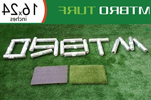 MTBRO Artificial Training Outdoor Grass Doormat for Clean Paws, Blade 100oz/sq.Yard,