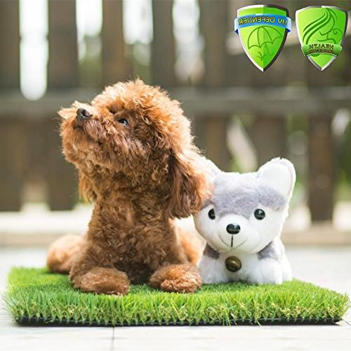 MTBRO Artificial Grass for & Pets, for Potty Training Grass Premium Doormat Clean Paws, 100oz/sq.Yard,