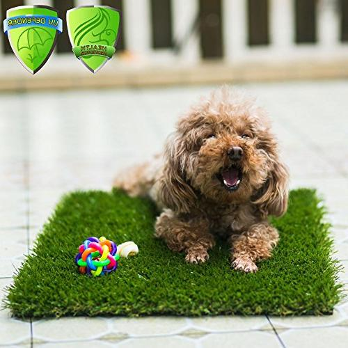 "MTBRO for Puppies Small Pets, for Potty Grass Mat, Paws, 1.5"", 100oz/sq.Yard, 24""x16"""
