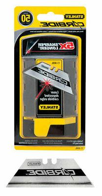 Stanley 11-800L Carbide Utility Blade, 50-Pack Dispenser