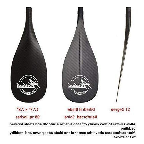 ABAHUB Premium SUP Paddle Stand Paddle Carbon Shaft & +