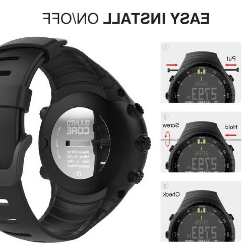 MoKo Replacement Soft Wrist Strap for Suunto Core Watch