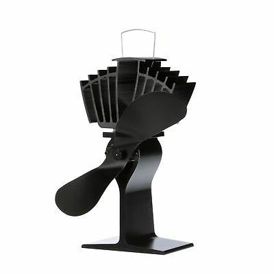 CAFRAMO ECOFAN AIRMAX BLACK BLADE HEAT POWERED STOVE FAN 812