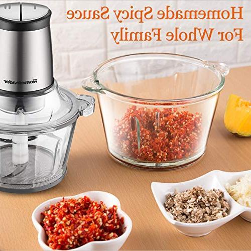 Electric Food Chopper, 8-Cup Food Processor 2L Blender Vegetables, Fruits Fast 4 Sharp