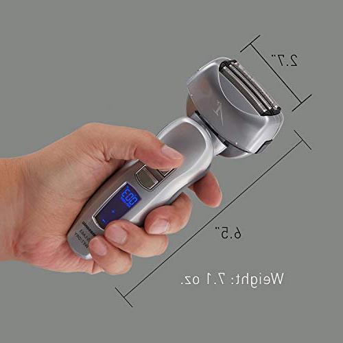 Panasonic ES-LA63-S Arc4 Men's Electric Razor, 4-Blade with Wet/Dry Shaver