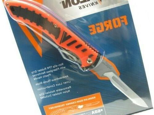 forge hunting knife orange thermoplastic