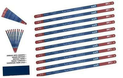 hacksaw replacement blades bi metal 10 pack