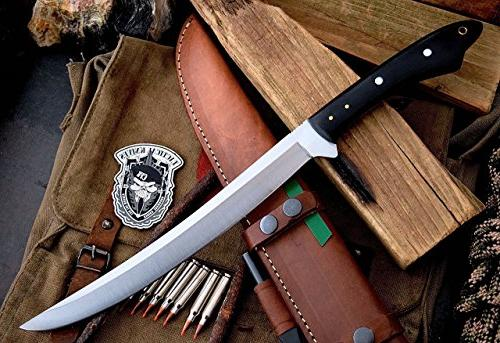 CFK Cutlery USA I Bushcraft Chopper Bowie Knife Sheath & CFK55