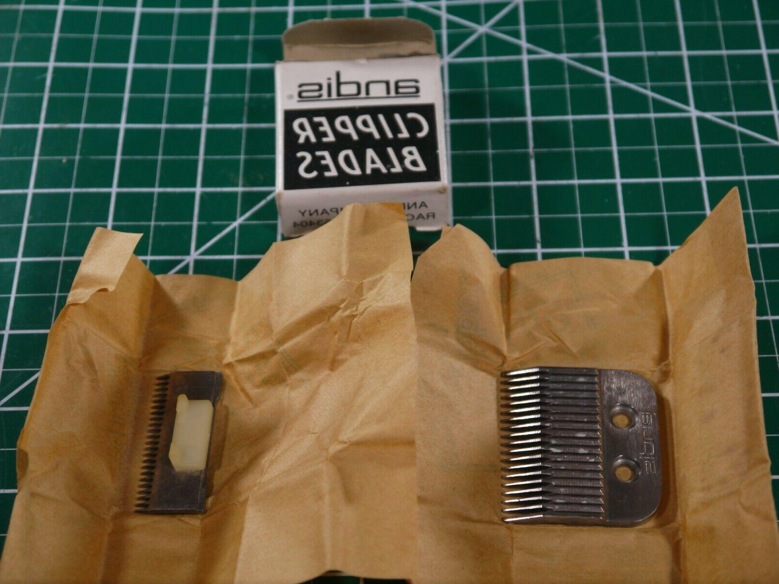 NOS One Set 01577 Andis Clipper Blades #19 for Improved,Fade