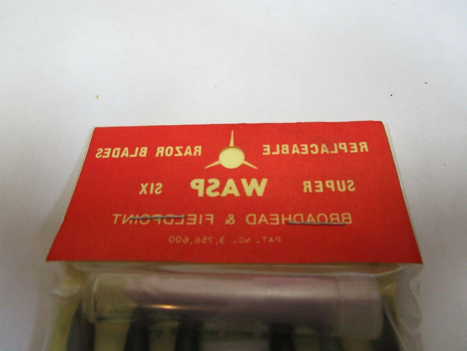 RARE NOS Wasp SUPER 6 Broadheads 36 Additional Replacement