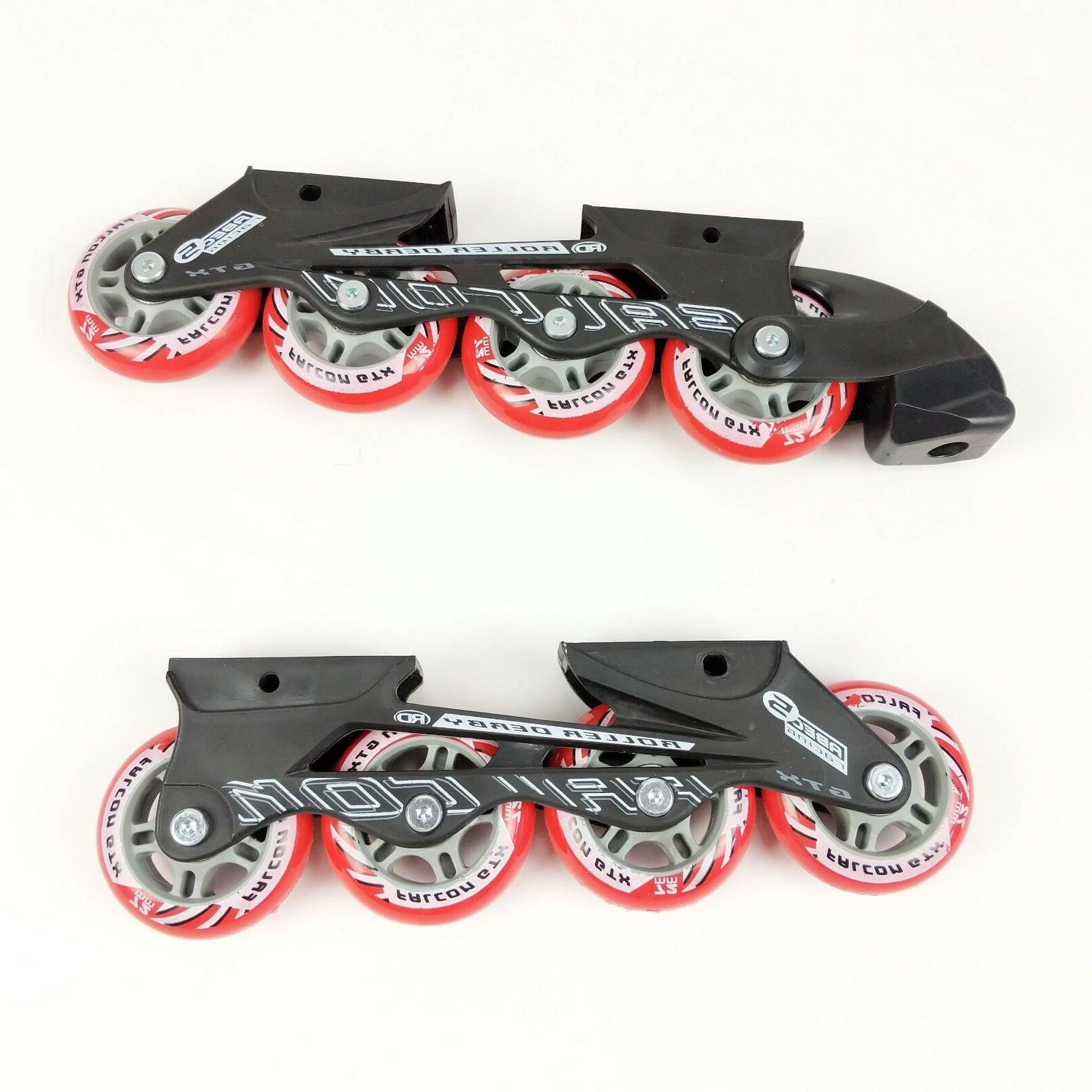 rd falcon gtx roller blades only 72mm