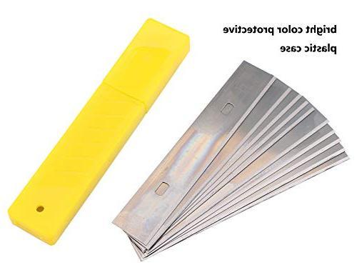 4-Inch Blades, 10PCS 10Boxes Scraper Razor for Single Razor Pack 100