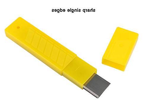 4-Inch Blades, Kattool 10PCS x Scraper Steel Razor for Single Edge Pack