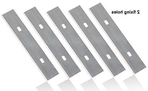 4-Inch Scraper Kattool 10PCS x Scraper Blades Razor for Scraper Single Edge Razor Blades, Pack of 100