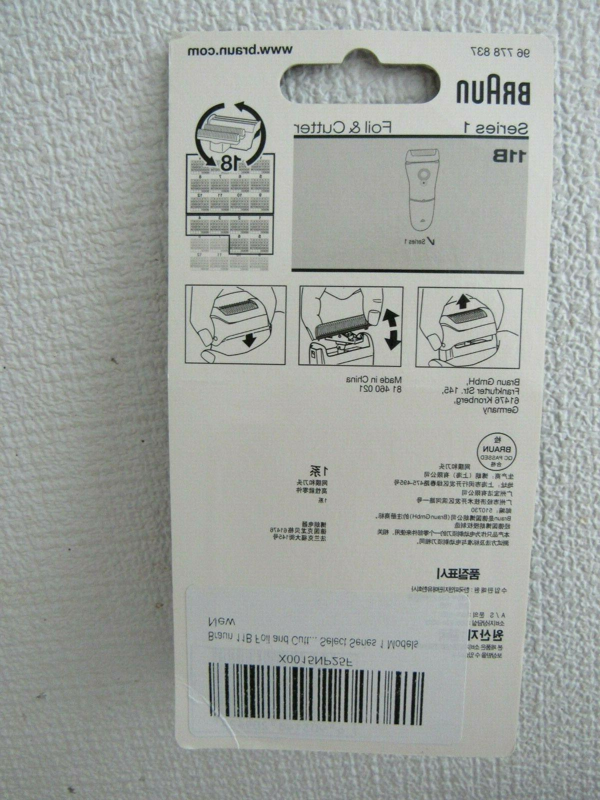 Braun Series Replacement Foil Shaver and cable