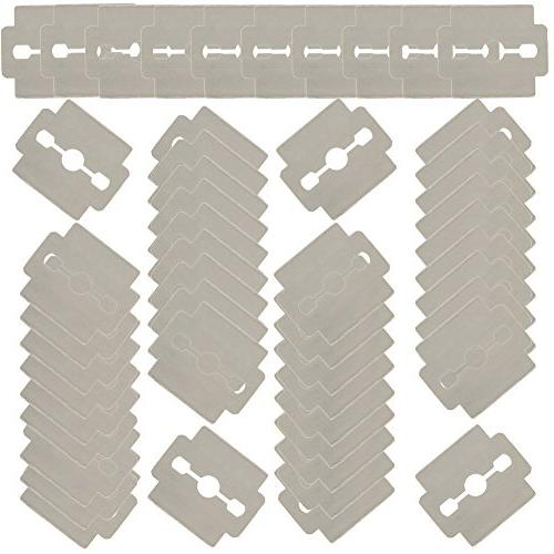 Set of 50pcs Stainless Steel Replacement Razor for Hard Calluses Removers Shavers Horn Skin Cutters