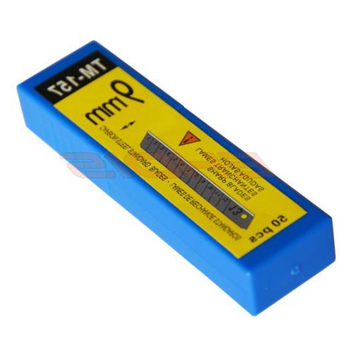 50PCS/Box 45° Sharp 9mm Steel Snap Off Blade Cutter USA