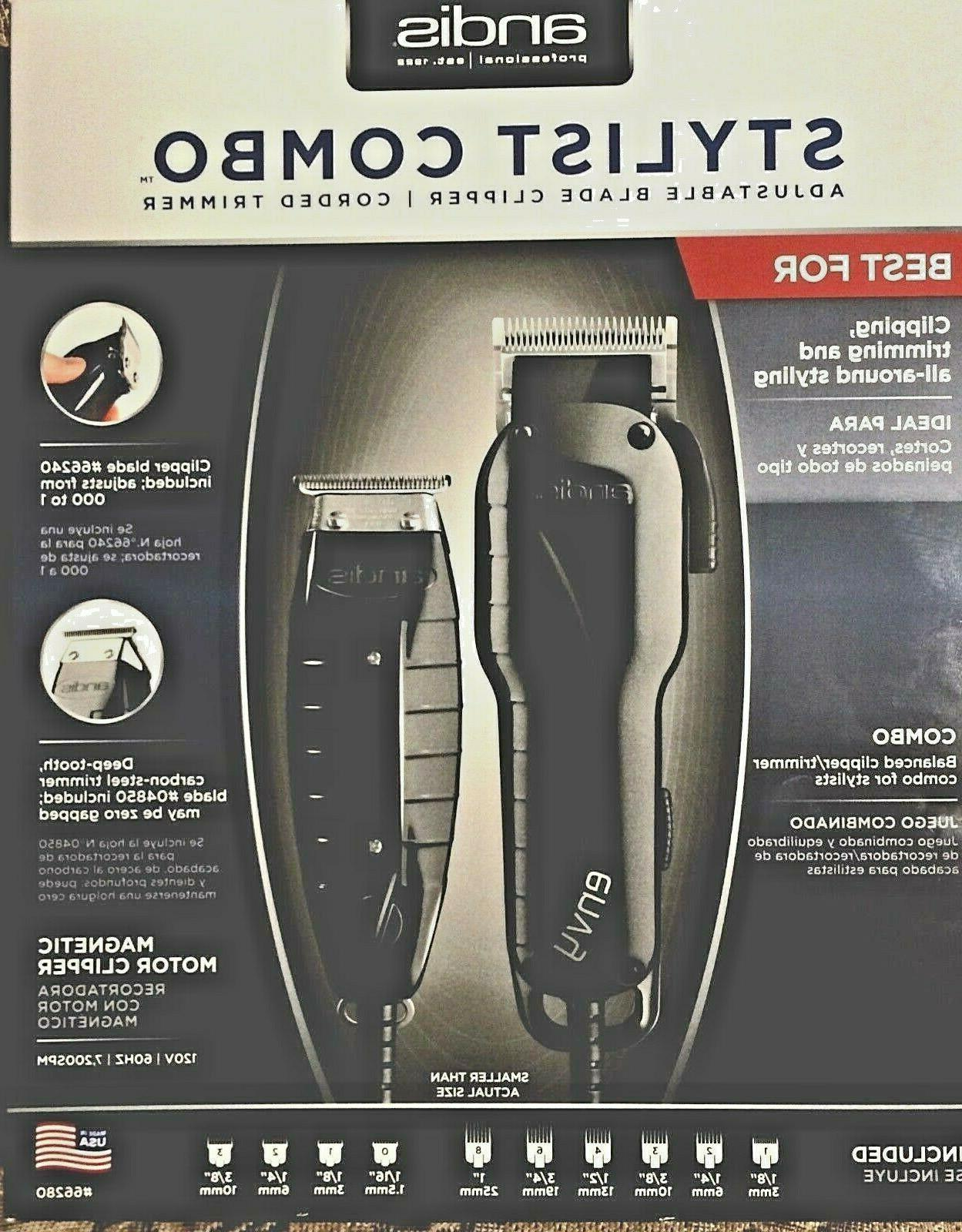 Andis Stylist Combo Envy Clipper + T-Outliner Trimmer Black