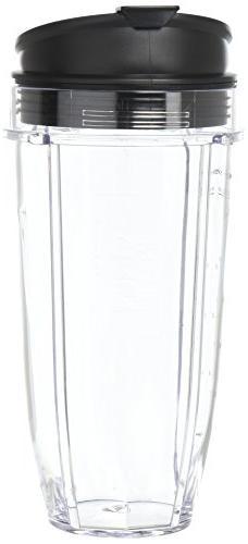 Nutri Ninja 24 oz Tritan Cups with Sip & Seal Lids. Compatib