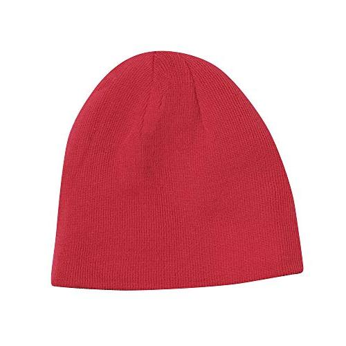 Kershaw Beanie ; Made of Comfortable 100% Knitted Material; Black with Red Knit-in Red One-Size-Fits-Most; Washable