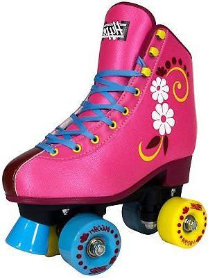 uGOgrl Girls - Skate - Stylish Flowers - Comfortable