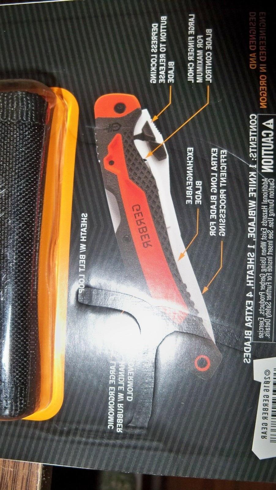 Gerber Vital Big Folder Knife w/4 Replacement skinning