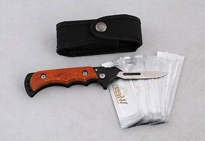 Wiebe Sharp Scalpel Folding Skinning 12 Blades