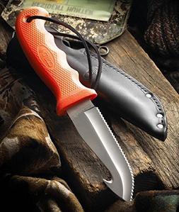 CUTCO Model 5717 Orange Gut Hook Hunting Knife .......High C
