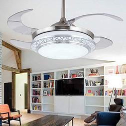 Lighting Groups Modern Acrylic Blades Cool Ceiling Fan Light