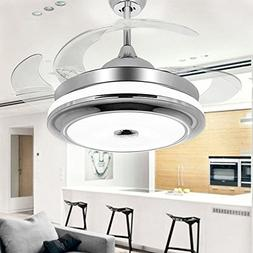 COLORLED Modern Fashion Retractable Blades Ceiling Fan with